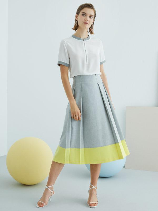 Perspective Bonitas Etek Skirt in Gray
