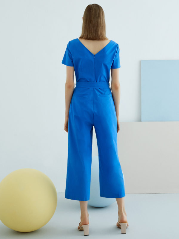 Perspective Belle Jumpsuit in Royal Blue