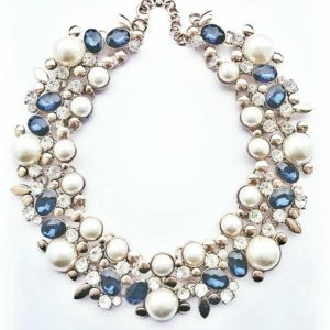 Augusta Necklace blue betty and biddy