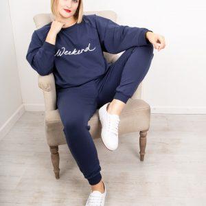 CHALK Nancy Weekend Oversized Comfy Sweatshirt NAVY WHITE 1 300x300