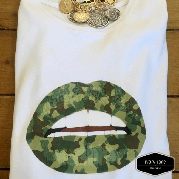 Gina Potter Camo Lip T-shirt