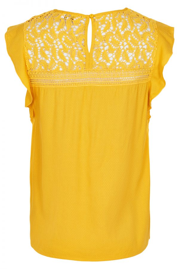 Cream Chalize Blouse Sunny Yellow