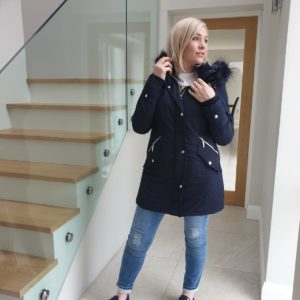 District Goldy Navy Padded Coat