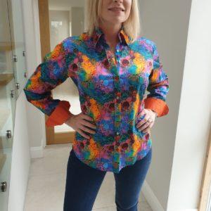 Claudio Lugli Ladies Mulicolour Bubbles Shirt