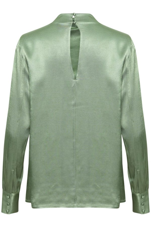 Soaked in Luxury Nanuli Blouse Hedge Green