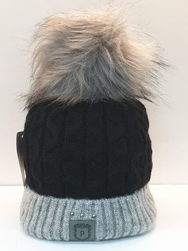 Perfect Hats Olga Two Tone Black Grey