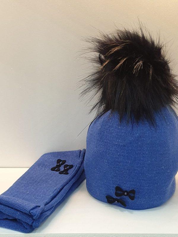 Perfect Hat Natalia Snood Set Royal Blue