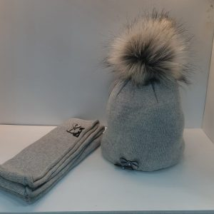 Perfect Hat Natalia Snood Set Mid Grey