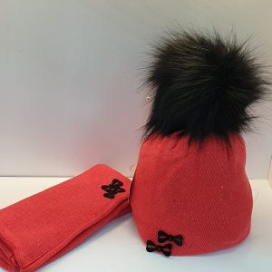 Perfect Hat Natalia Snood Set Red