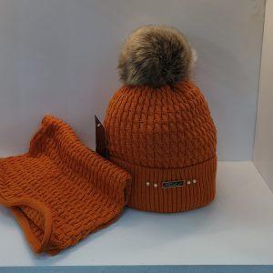 Perfect Hat Julia Snood Set Orange