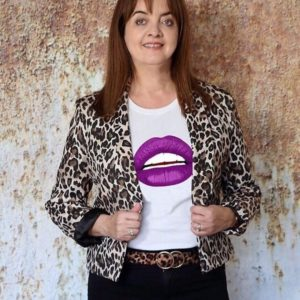 Gina Potter Purple Lips T shirt