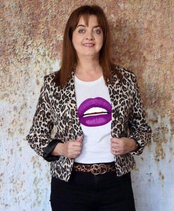 Gina Potter Purple Lips T shirt