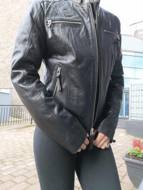 Cigno Nero Sinea Leather Black Jacket