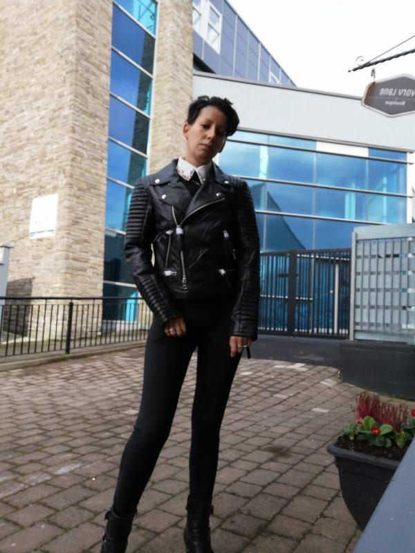 Cigno Nero Klara Leather Black Jacket