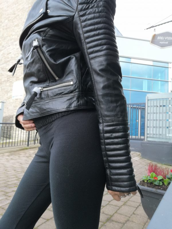 Cigno Nero Klara Leather Black Jacket