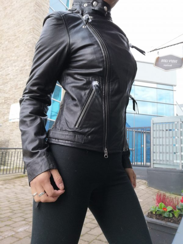 Cigno Nero Ilona Leather Black Jacket