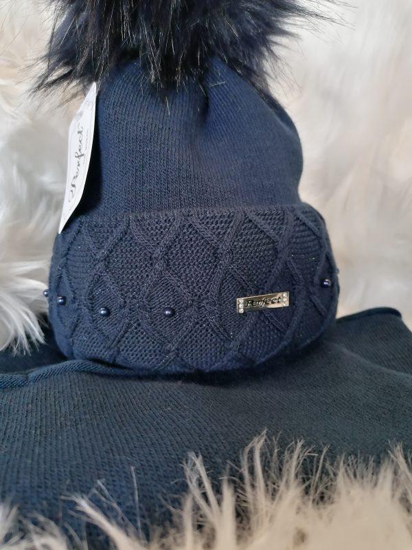 Perfect Hats Navy & Snood Set