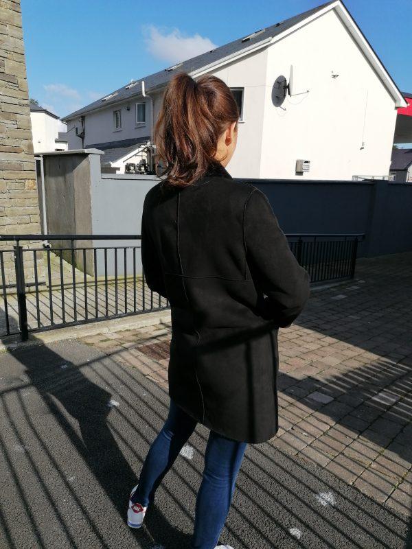 Maioli Black Faux Fur Shearling Coat