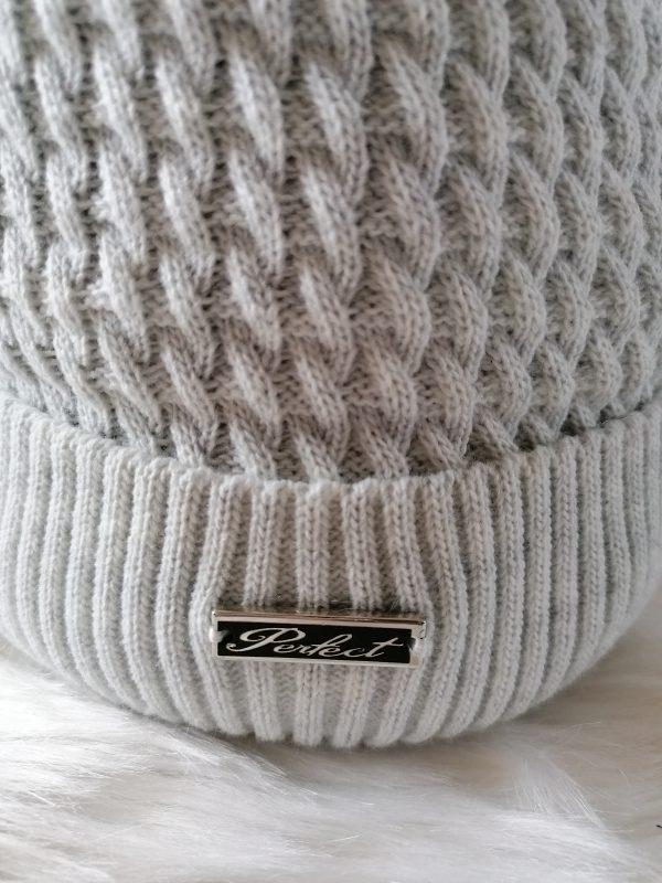 grey Pom POM Hat