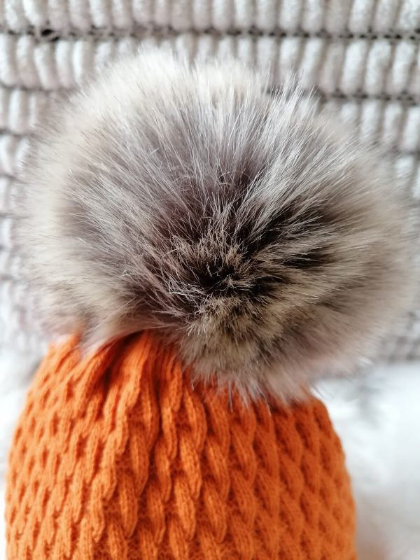 Perfect Burnt Orange Pom Pom Hat