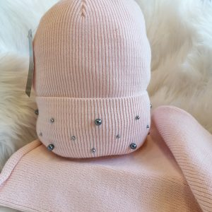Perfect Hats Snood Set in Pearl Blush