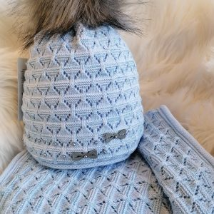 Perfect Hats Snood Set in Baby Blue
