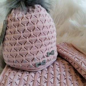 Perfect Hats Snood Set in Dusky Pink