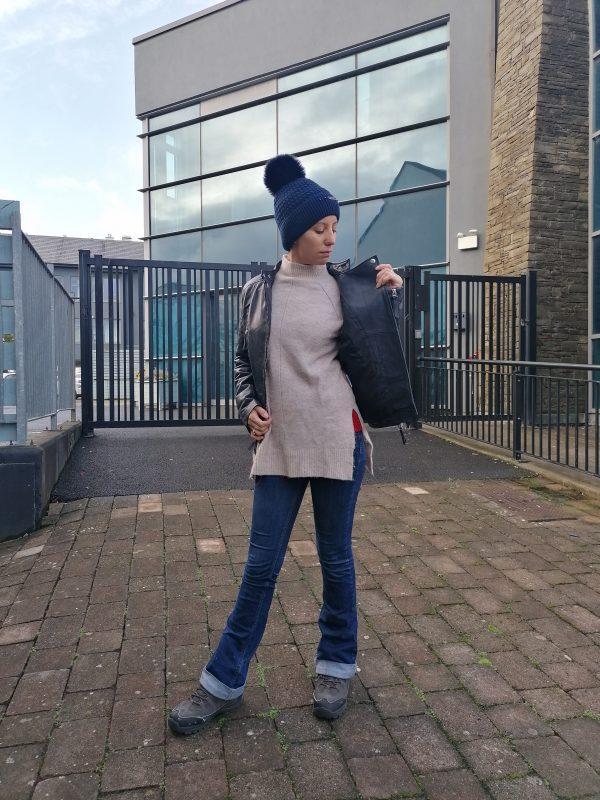 Cigno Nero Ilona Leather Indigo Jacket