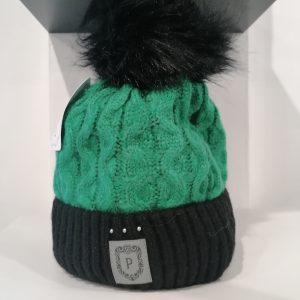 Perfect Hats Olga Two Tone Emerald Green Black