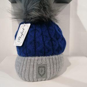 Perfect Hats Olga Two Tone Royal Blue Grey