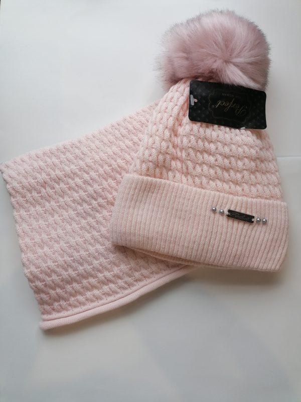 Perfect Hat Julia Snood Set Pastel Pink