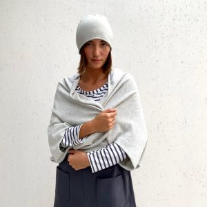 Chalk Clothing Sam Shawl in Silver
