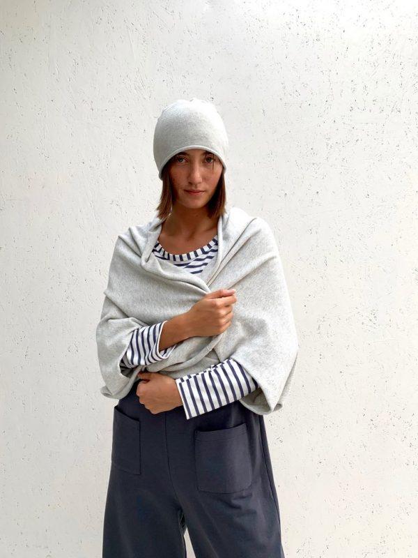 Chalk Clothing Sam Shawl in Silver