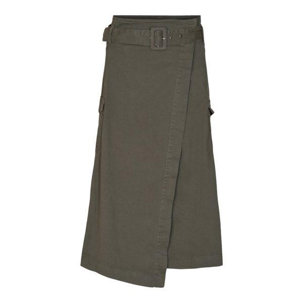 Pieszak Jessi Wrap Skirt Army