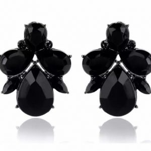 Jett Earrings black betty and biddy