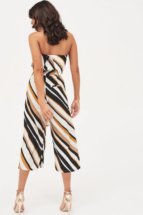 Lavish Alice Double Layer Bandeau Stripe Culotte Jumpsuit