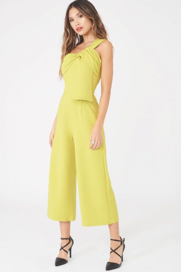 Lavish Alice twisted one shoulder wide leg