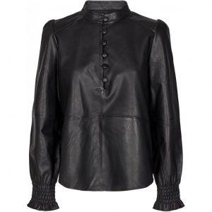 Lanni Leather Puffy Shirt Shirts Blouses C233700 9 Black 1024x1024 300x300