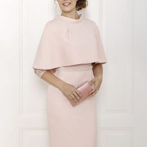 Anoola blush lace dress and cape