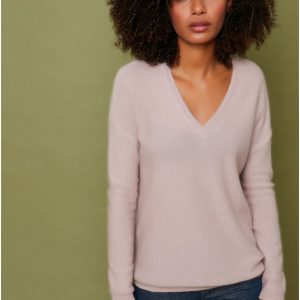 Sud Express Mash Jumper Long Sleeves V Neck Knit