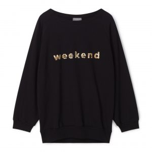 Chalk Black Leopard 'Weekend' Sweatshirt