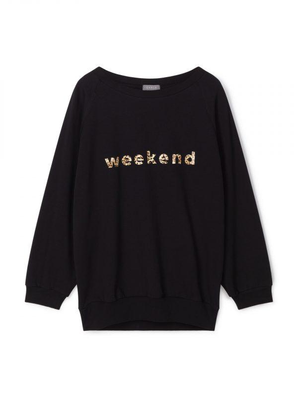 Chalk Black Leopard 'Weekend' Sweatshirt