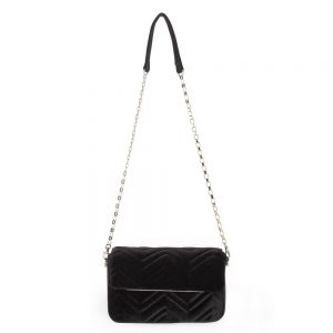 Olga berg black hope velvet shoulder bag