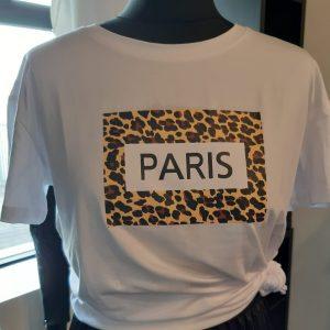 Paris printed tee