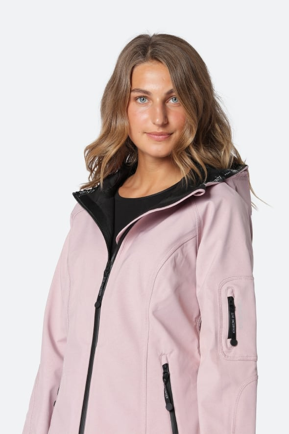 Ilse Jacobsen Rain37 Adobe Rose Soft Shell Raincoat