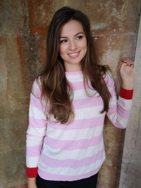 Luella Reese Ivory / Pink / Red Jumper