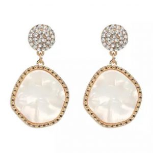 Resin disc earrings white betty and biddy