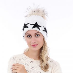 Peach Accessories white star hat