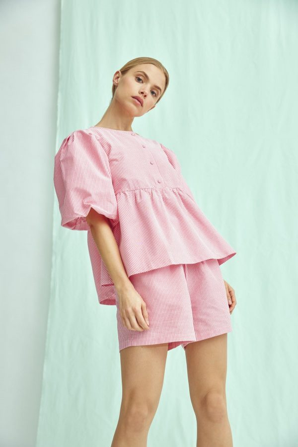 A-View Sara Blouse in Bubble Pink