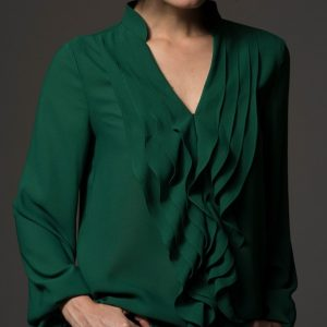 The shirt company Victoria blouse emerald